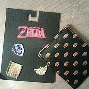 Zelda wallet and pins